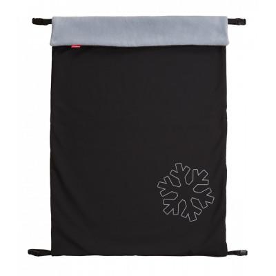 ByBoom Zimná Softshell Deka Thermo Aktiv univerzálna 70x100cm, čierna / šedá