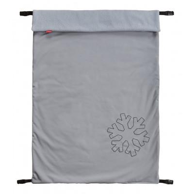 ByBoom Zimná Softshell Deka Thermo Aktiv univerzálna 70x100cm, šedá / šedá