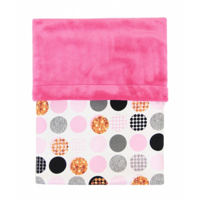 Deka MIMI 70x100cm - BUBBLE pink + velvet fuchsia