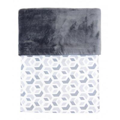 Deka MIMI 70x100cm - CUBE šedá + velvet šedý