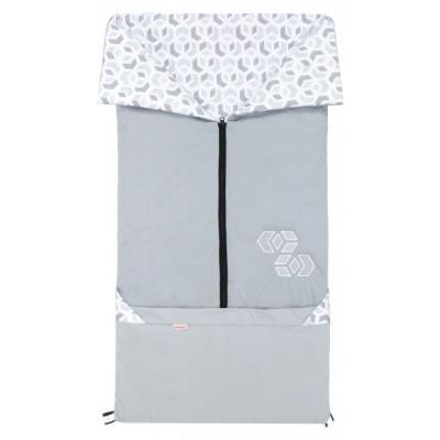 FUSAK 2v1 BARY bavlna - šedý / CUBE šedý