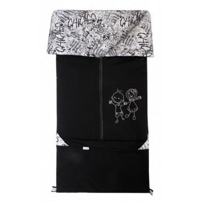 FUSAK 2v1 FANDA fleece - čierny / GRAFITY