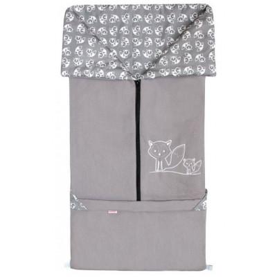 FUSAK 2v1 FANDA fleece - šedý / LÍŠKY šedé