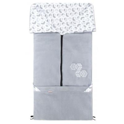 FUSAK 2v1 FANDA fleece - šedý / CUBE šedý