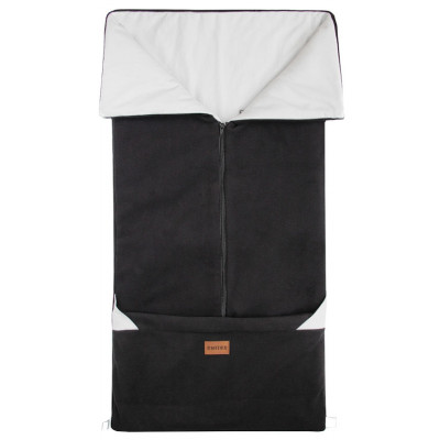 FUSAK 2v1 FANDA New fleece - čierna / sv.šedý