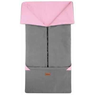FUSAK 2v1 FANDA New fleece - tm.šedý / staroružová
