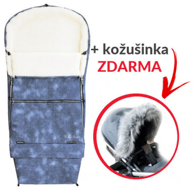 Fusak COMBI JEANS 3v1 kožuch - modrý + kožušinka