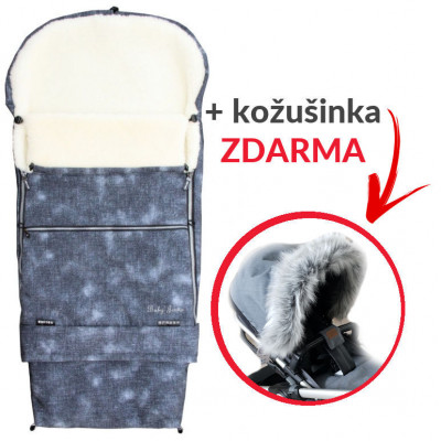 Fusak COMBI JEANS 3v1 kožuch - šedý + kožušinka