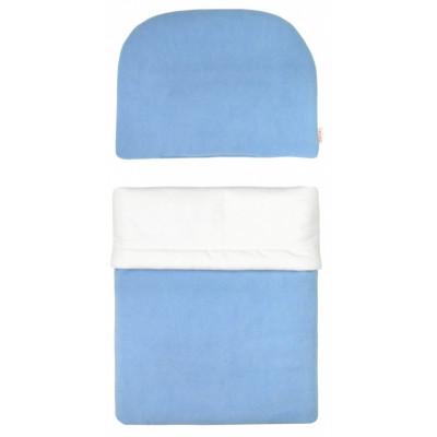 Súprava do kočíka s výplňou - Sv.modrá bez výšivky