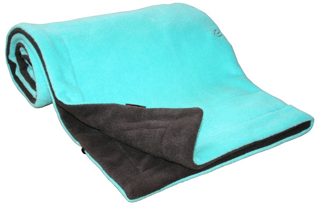 Deka FLEECE 70x100cm - Antracit / Aqua