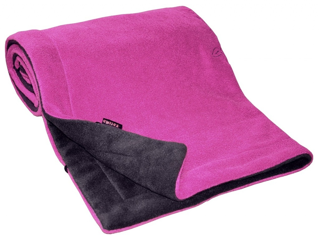 Deka FLEECE 70x100cm - Antracit / Fuchsia